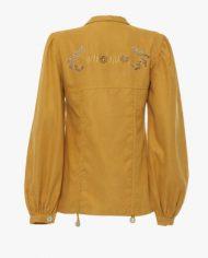 chloe shirt mustard belakang