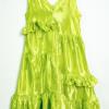 Sleeveless Dress Neon Lime
