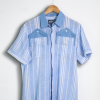 Double Pockets Blue Shirt